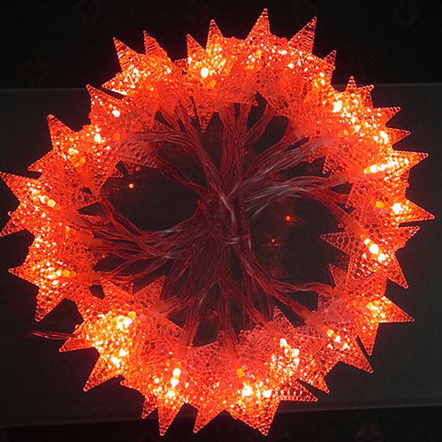 3M LED light Stars Red
