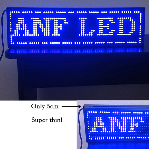 Super Thin LED Scrolling Sign Board Blue
