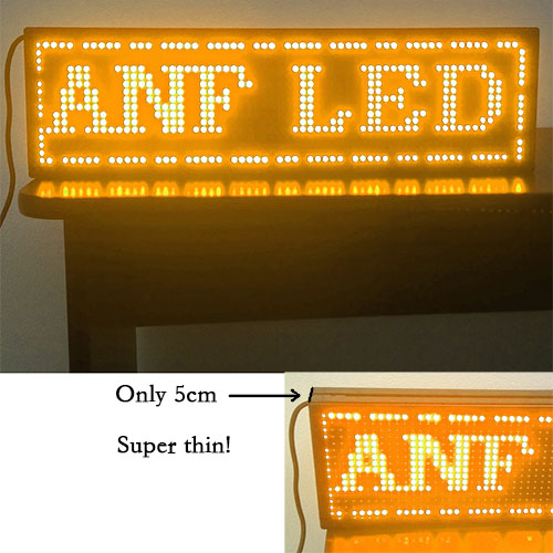 Super Thin LED Scrolling Sign Board Orange