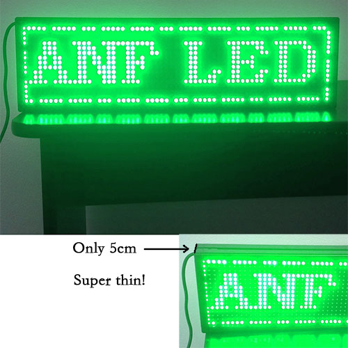 Super Thin LED Scrolling Sign Board Green