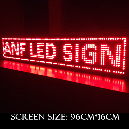 Super Thin LED Scrolling Sign Board Red 3-1
