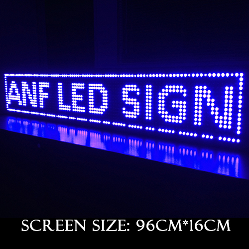 Super Thin LED Scrolling Sign Board Blue 3-1