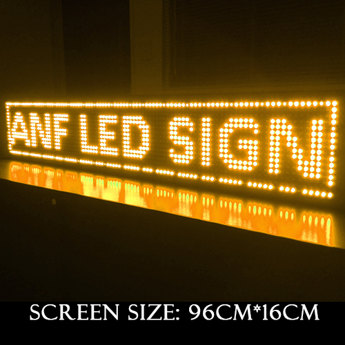 Super Thin LED Scrolling Sign Board Orange 3-1
