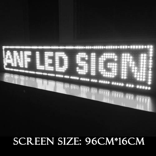 Super Thin LED Scrolling Sign Board White 3-1