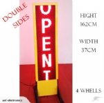 2 Sided WiFi RED LED Sign Board with Wheels