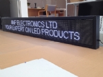 LED Scrolling Sign Board 2.97m*0.41m Waterproof
