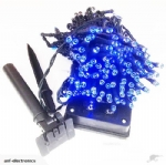 22m Solar festive light - Blue